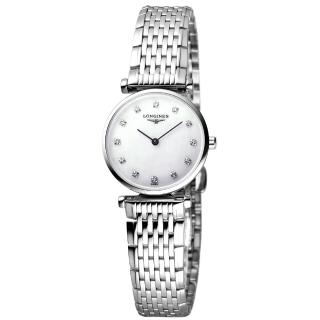 【LONGINES】浪琴 嘉嵐系列限量鑽錶-白貝/24mm(L42094876)
