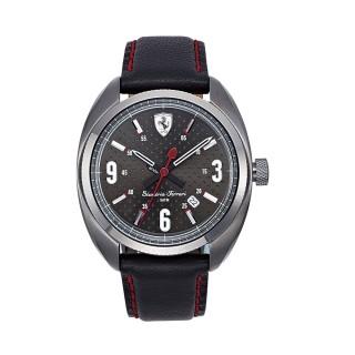 【FERRARI】Formula Sportiva經典黑面時尚腕錶(0830238)