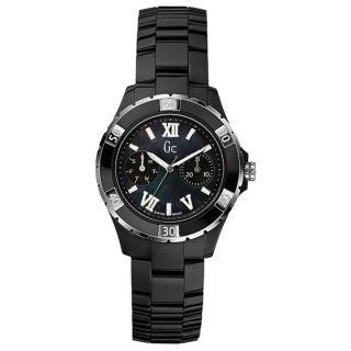~Gc~羅馬高雅雙眼計時陶瓷腕錶~黑x銀 37mm^(GXX69002L2S^)