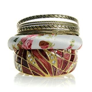 【Lady c.c.】燦爛紫粉切割金飾多層次手環
