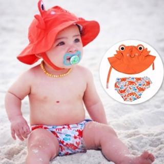【美國ZOOCCHiNi】可愛動物泳裝套組(螃蟹)
