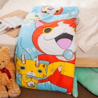 【妖怪手錶-淺藍】幼教兒童睡袋(冬夏鋪棉兩用)