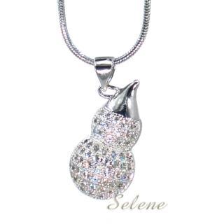 【Selene 珠寶】福祿銀葫蘆項鍊(招貴人防小人)