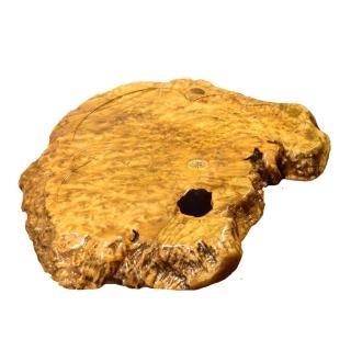 【Time Leisure 品閒】黃金樟樹瘤實木茶盤A5(71x66X6cm)