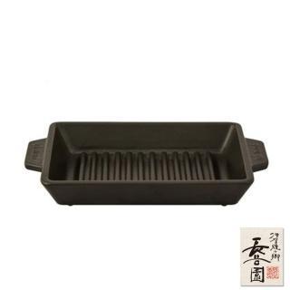 【日本長谷園伊賀燒】黑釉長型烤盤