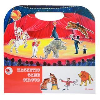 【BabyTiger虎兒寶】比利時 Egmont Toys 艾格蒙繪本風遊戲磁貼書(馬戲團)