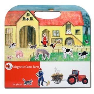 【BabyTiger虎兒寶】比利時 Egmont Toys 艾格蒙繪本風遊戲磁貼書(開心農場)
