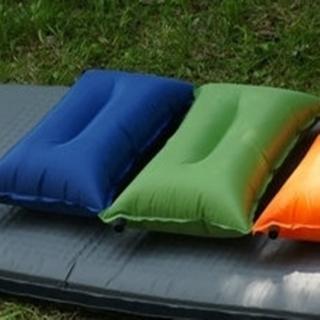 【May Shop】戶外野營自動充氣枕帳篷枕PVC休閒枕頭汽車枕便攜旅行枕午睡枕頭