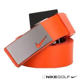 【Nike Golf】百搭素色真皮腰帶(橘616971-812)