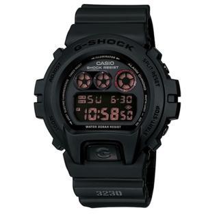 【CASIO 卡西歐】G-SHOCK 低調軍事風格霧黑時尚運動錶(50mm/DW-6900MS-1)