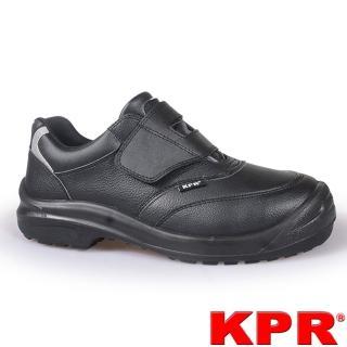 【KPR尊王】黏貼型防潑水工作鞋(L-055黑色/男女款)