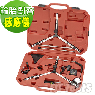 【良匠工具】輪胎四輪對齊角度感應儀附數位量角器組(輪胎對齊 數位量角器)
