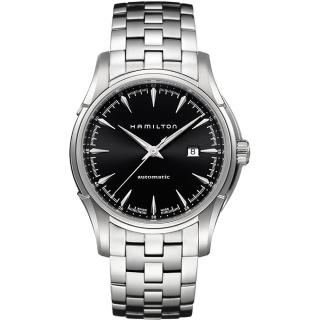 【Hamilton】漢米爾頓 Viewmatic 紳士大三針機械腕錶-黑x銀/44mm(H32715131)  HAMILTON 漢米爾頓