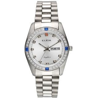 【ELIDA】晶鑽簡約石英鋼帶腕錶(銀 EA2900-1DM-WW)