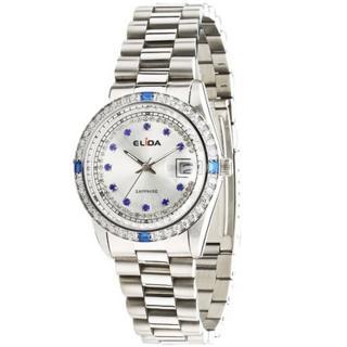 【ELIDA】晶鑽時尚鋼帶腕錶(銀 EA2900DM-WW)