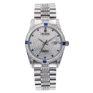 【ELIDA】晶鑽時尚石英鋼帶錶(銀 EA2900-1DM-DDW)