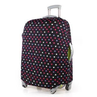 【PUSH! 旅遊用品】普普風情心心相印行李箱彈力保護套防塵套箱套拖運套20寸(20寸)