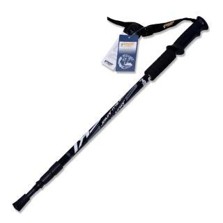 【PUSH! 戶外休閒登山用品】航空鋁合金鎢鋼杖尖三節調整式登山杖(一入 P63)