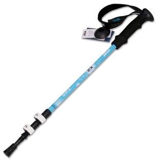【PUSH! 戶外休閒登山用品】加厚管壁杖航空鋁合金鎢鋼杖尖三節調整式登山杖 一入(P68)