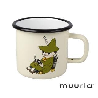 【芬蘭Muurla】阿金琺瑯馬克杯-370ml(muurla moomin 嚕嚕米 琺瑯杯 咖啡杯)