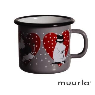 【芬蘭Muurla】嚕嚕米愛心琺瑯馬克杯-250ml(muurla moomin 嚕嚕米 琺瑯杯 咖啡杯)