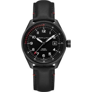 【全球限量1999只 Hamilton】漢米爾頓 KHAKI AVIATION 限量機械腕錶-42mm(H76695733)