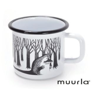 【芬蘭Muurla】雪地精靈哥古琺瑯馬克杯-白370ml(muurla moomin 嚕嚕米 琺瑯杯 咖啡杯)