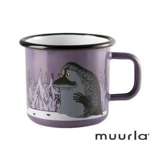 【芬蘭Muurla】神祕的哥古琺瑯馬克杯-紫370ml(muurla moomin 嚕嚕米 琺瑯杯 咖啡杯)