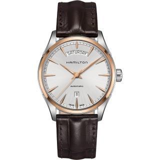【Hamilton】漢米爾頓 JAZZMASTER 爵士機械腕錶-42mm(H42525551)