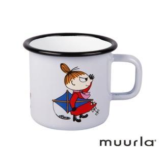 【芬蘭Muurla】淘氣小不點琺瑯馬克杯-淡紫370ml(muurla moomin 嚕嚕米 琺瑯杯 咖啡杯)