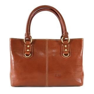 【Sika】義大利時尚風雅古典兩用手提包(M6050-01原味褐)
