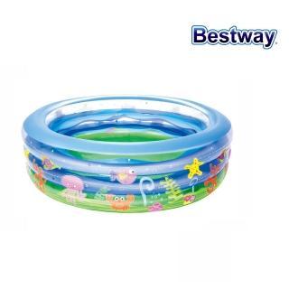 【酷博士】Bestway。77X21海洋環繞三環戲水泳池(51029)