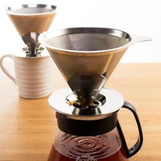 【UdiLife】慢拾光/手沖式不銹鋼咖啡濾杯/2-4人