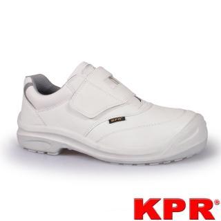 【KPR尊王】防靜電黏貼型防潑水工作鞋(L-055白色/男女款)
