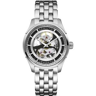 【Hamilton】漢米爾頓 VIEWMATIC爵士系列全鏤空紳士機械腕錶-銀/40mm(H42555151)  HAMILTON 漢米爾頓