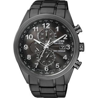 【CITIZEN】世界五局電波光動能腕錶-IP黑(AT8105-53E)
