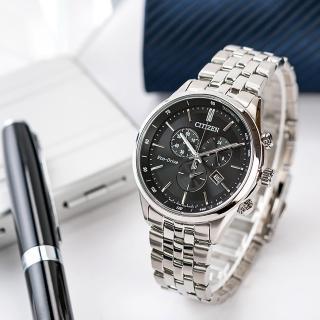 【CITIZEN 星辰】Eco-Drive 風潮湧現光動能時尚腕錶-黑(AT2140-55E)