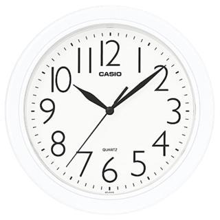 【CASIO 卡西歐】圓形簡約時尚掛鐘-白(IQ-01S-7DF)