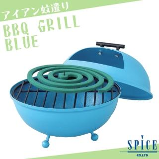 【日本 SPICE】日系 BBQ 藍色 造型蚊香座(/ 露營 登山 防蚊)