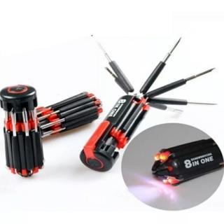 【Ainmax】8合1多功能工具組/八合一螺絲起子手電筒工具(生活工作好幫手)