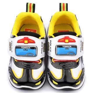 【童鞋城堡】Tomica多美小汽車 中童 警車電燈運動鞋(TM7792-黑)