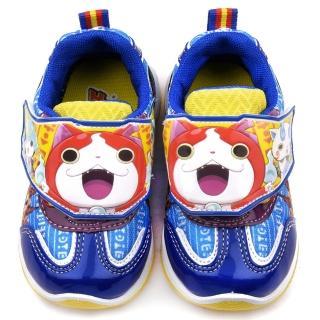 【童鞋城堡】妖怪手錶 中童 吉胖喵運動鞋(YW8844-藍)