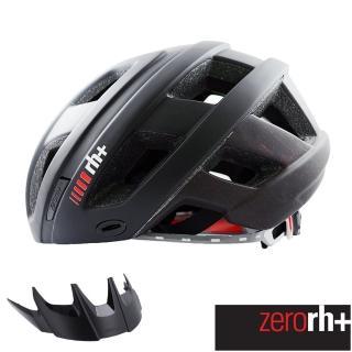 ~ZeroRH ~自行車安全帽 CAMINHO系列附遮陽板^(黑 紅 EHX6063 18