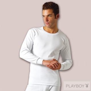 【PLAY BOY】時尚100%純棉毛圓領長袖衫(2件組)