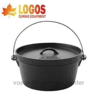 【日本 LOGOS】SL豪快魔法調理荷蘭鍋12吋/附收納袋(露營.可電磁爐加熱/LG81062232)