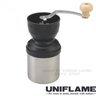 【日本 UNIFLAME】日本製 收納式手搖磨豆機(手搖式迷你咖啡豆研磨機.咖啡機/664070)