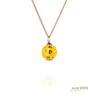 【J'code 真愛密碼】圓愛金鋼墜子+玫瑰金鋼項鍊(時尚金飾)