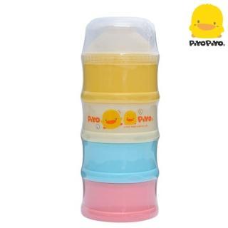 【黃色小鴨PiyoPiyo】彩色特大四層奶粉盒