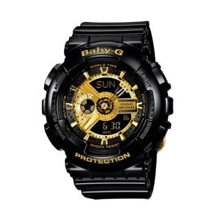 【CASIO】BABY-G/潮流尖端雙顯運動腕錶(黑/BA-110-1ADR)
