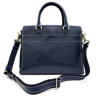【Sika】義大利時尚牛皮復古品味公事包(M6163-06清玉藍)